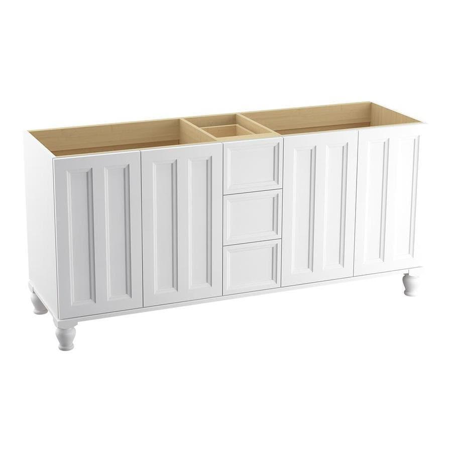 KOHLER Damask Linen White Traditional Bathroom Vanity (Common: 72-in x 22-in; Actual: 72-in x 21.875-in)