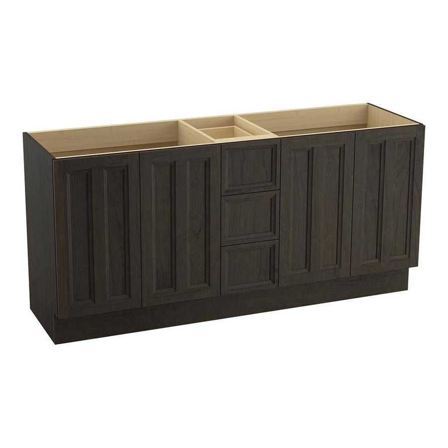 KOHLER Damask Felt Grey Traditional Bathroom Vanity (Common: 72-in x 22-in; Actual: 72-in x 21.875-in)