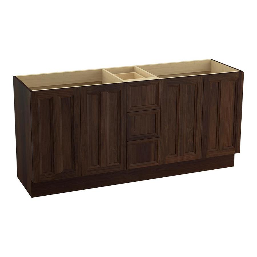 KOHLER Damask Ramie Walnut Traditional Bathroom Vanity (Common: 72-in x 22-in; Actual: 72-in x 21.875-in)