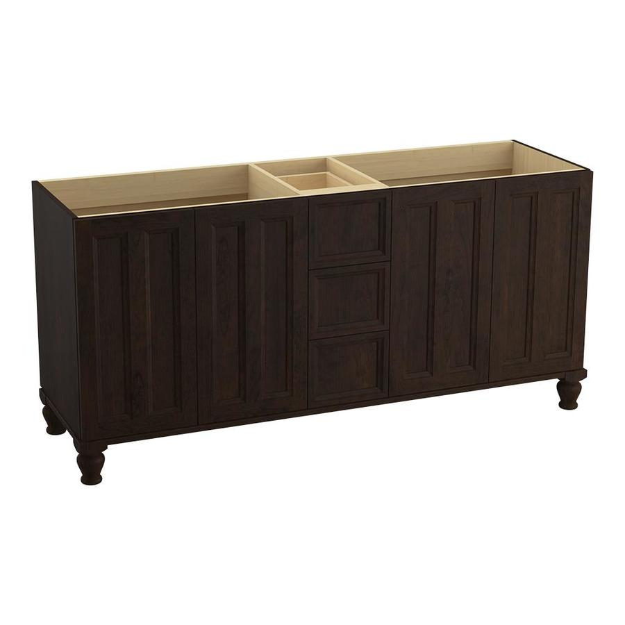 KOHLER Damask Claret Suede Traditional Bathroom Vanity (Common: 72-in x 22-in; Actual: 72-in x 21.875-in)