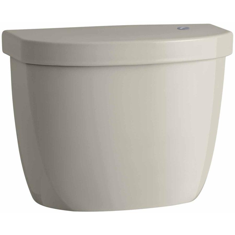 KOHLER Cimarron Sandbar 1.28-GPF (4.85-LPF) 12 Rough-In Single-Flush High-Efficiency Toilet Tank