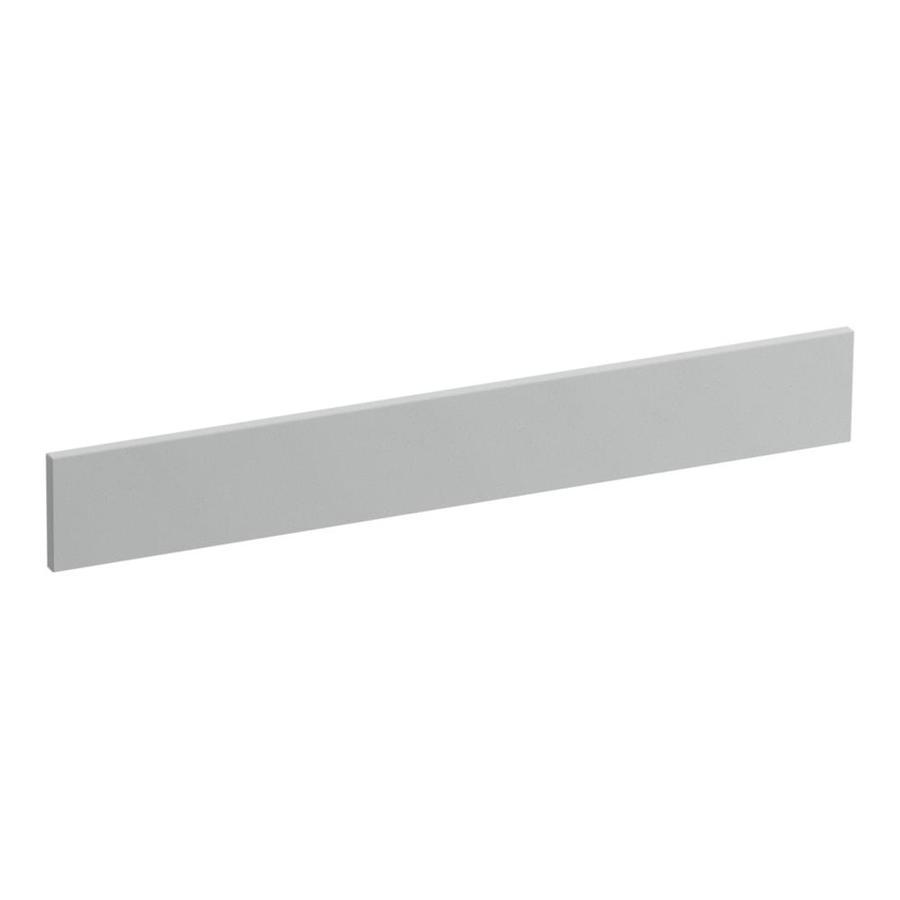 KOHLER 3.5-in x 25-in Ice Grey Expressions Solid Surface Backsplash