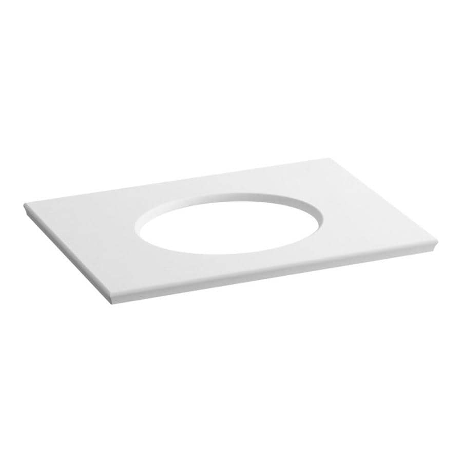 KOHLER Solid/Expressions White Expressions Solid Surface Sink Sold Separately Bathroom Vanity Top (Common: 31-in x 23-in; Actual: 31.625-in x 22.8125-in)