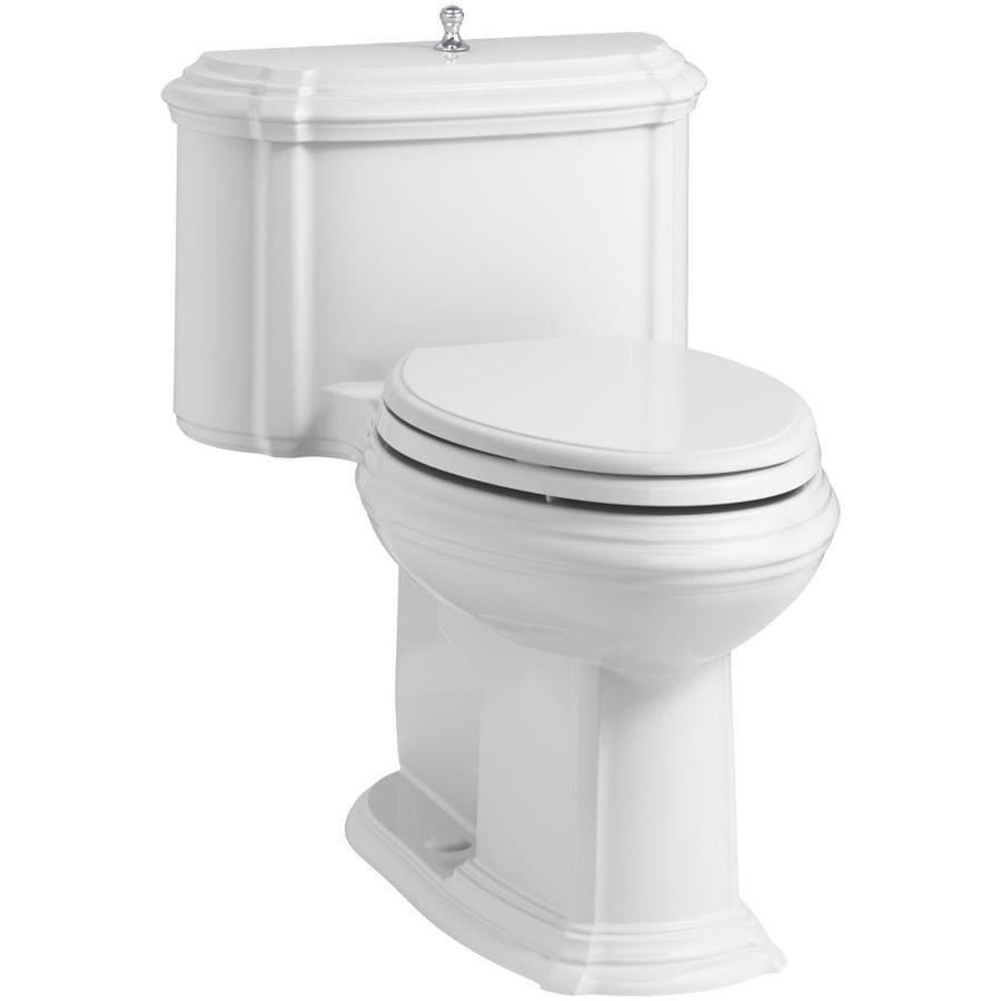 KOHLER Portrait White 1.28-GPF (4.85-LPF) 12 Rough-In WaterSense Elongated 1-Piece Chair Height Toilet