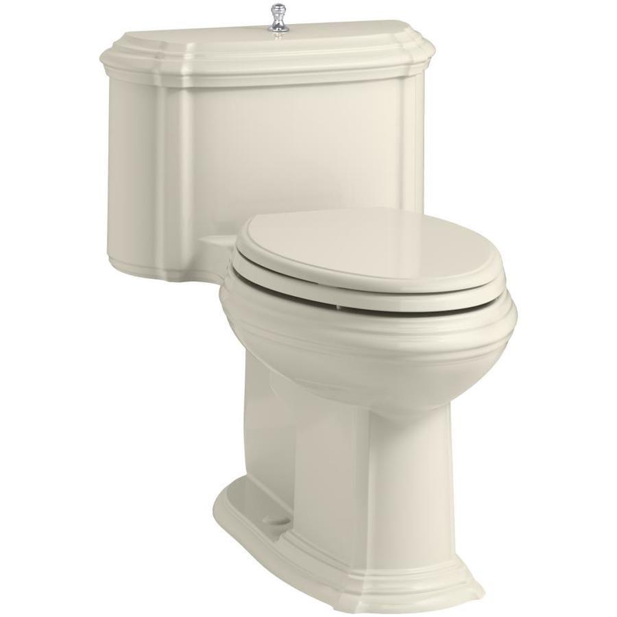 KOHLER Portrait Almond 1.28-GPF (4.85-LPF) 12 Rough-In WaterSense Elongated 1-Piece Chair Height Toilet