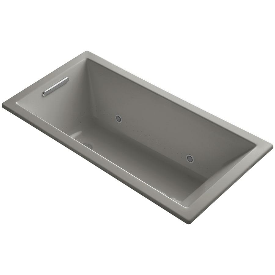 KOHLER Underscore 60-in L x 30-in W x 19-in H Cashmere Acrylic Rectangular Drop-In Air Bath