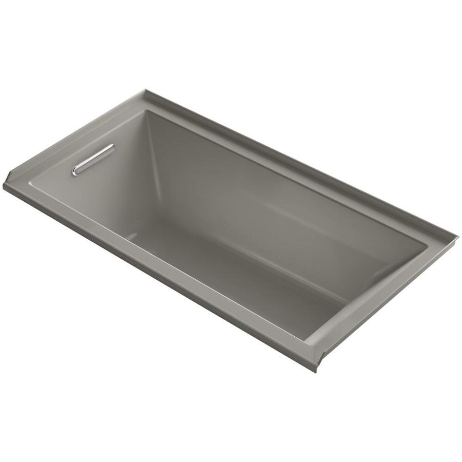 KOHLER Underscore 60-in L x 30-in W x 19-in H Cashmere Acrylic Rectangular Alcove Air Bath