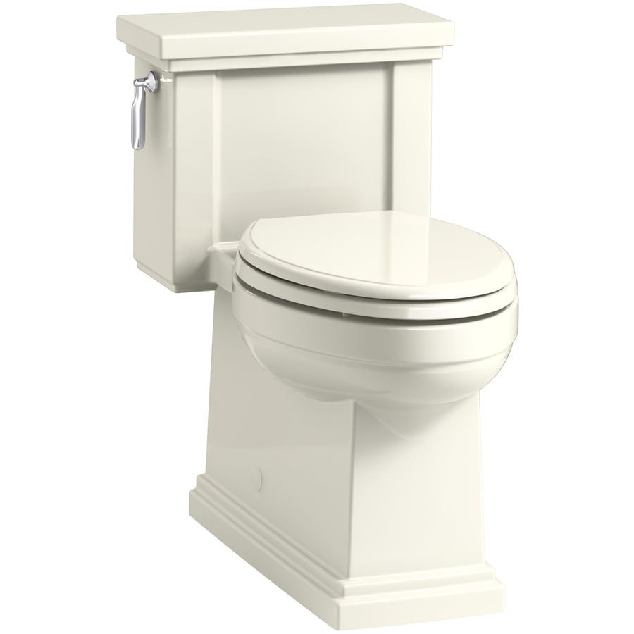 KOHLER Tresham Biscuit 1.28-GPF (4.85-LPF) 12 Rough-In WaterSense Elongated 1-Piece Chair Height Rear Outlet Toilet