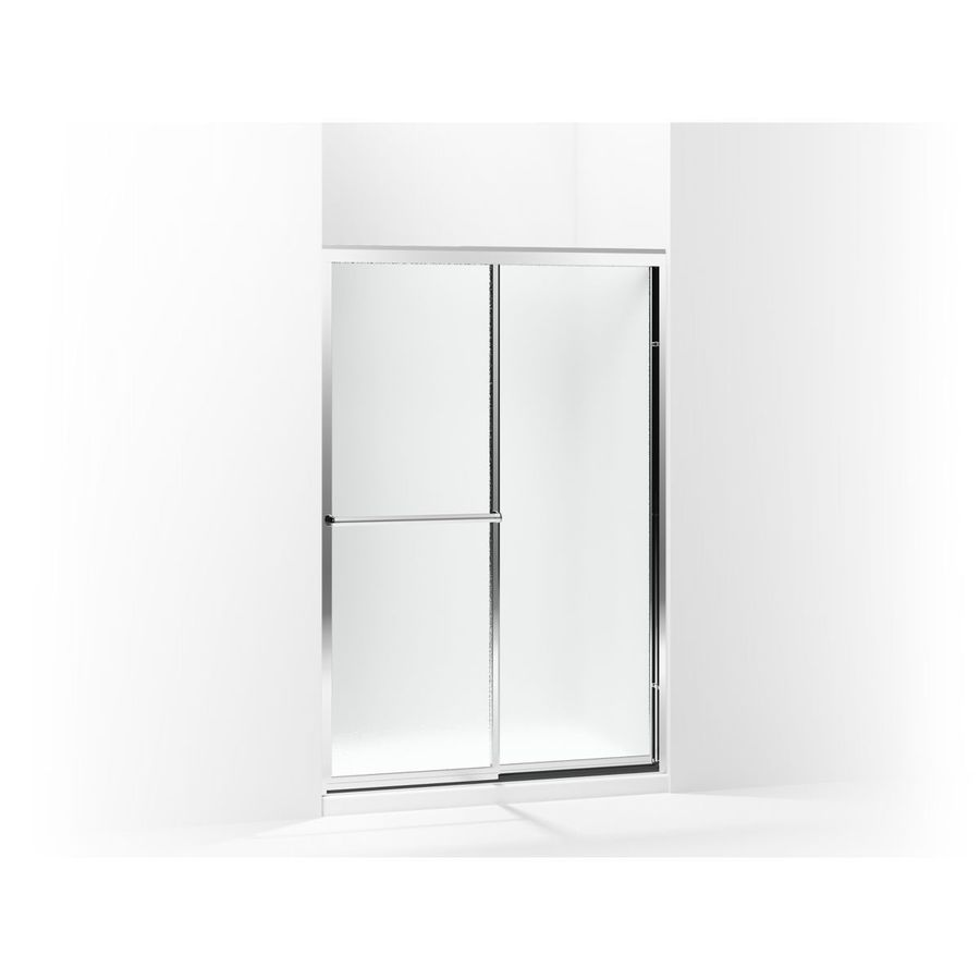Sterling Prevail 43.87-in to 48.87-in W x 70.12-in H Silver Sliding Shower Door