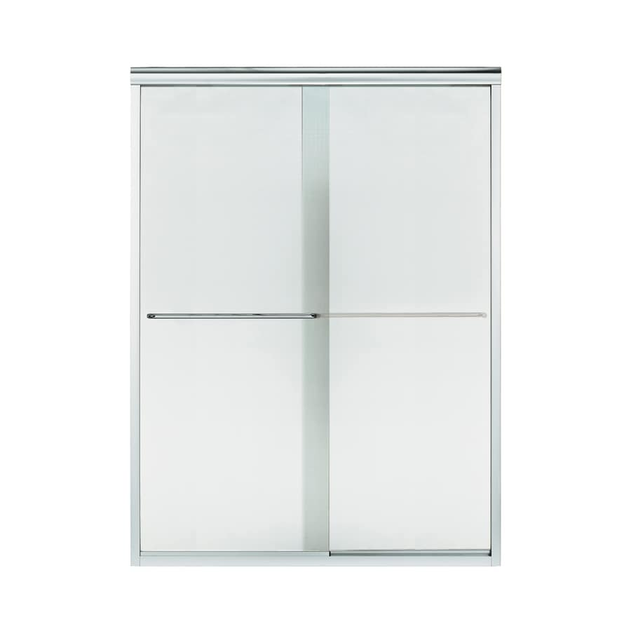 Sterling Finesse 56-in to 57.5-in W x 70.312-in H Silver Sliding Shower Door