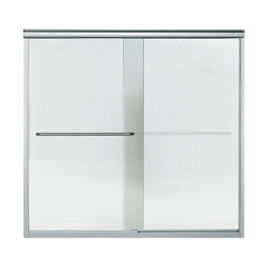 Sterling Finesse 57.5-in W x 55.75-in H Silver Bathtub Door