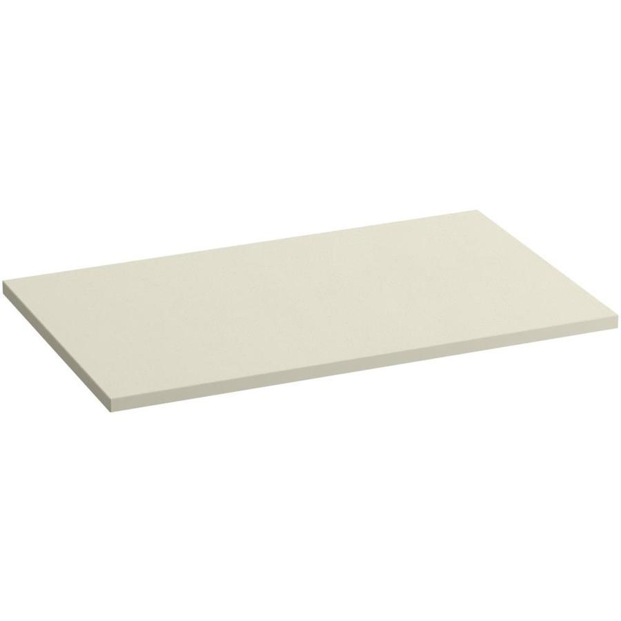 KOHLER Almond Expressions Solid Surface Bathroom Vanity Top (Common: 37-in x 23-in; Actual: 37-in x 22.8125-in)
