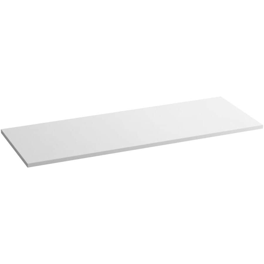KOHLER White Expressions Solid Surface Bathroom Vanity Top (Common: 61-in x 23-in; Actual: 61-in x 22.8125-in)