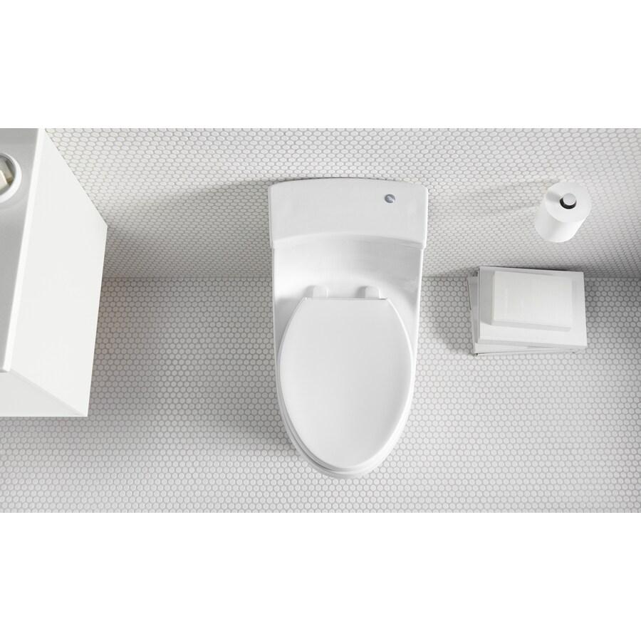 KOHLER San Souci White 1.28-GPF (4.85-LPF) 12 Rough-In WaterSense Elongated Touchless-Flush 1-Piece Standard Height Toilet