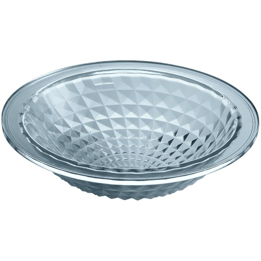 Kallos Translucent Dusk Glass Drop-in Round Bathroom Sink Product Photo