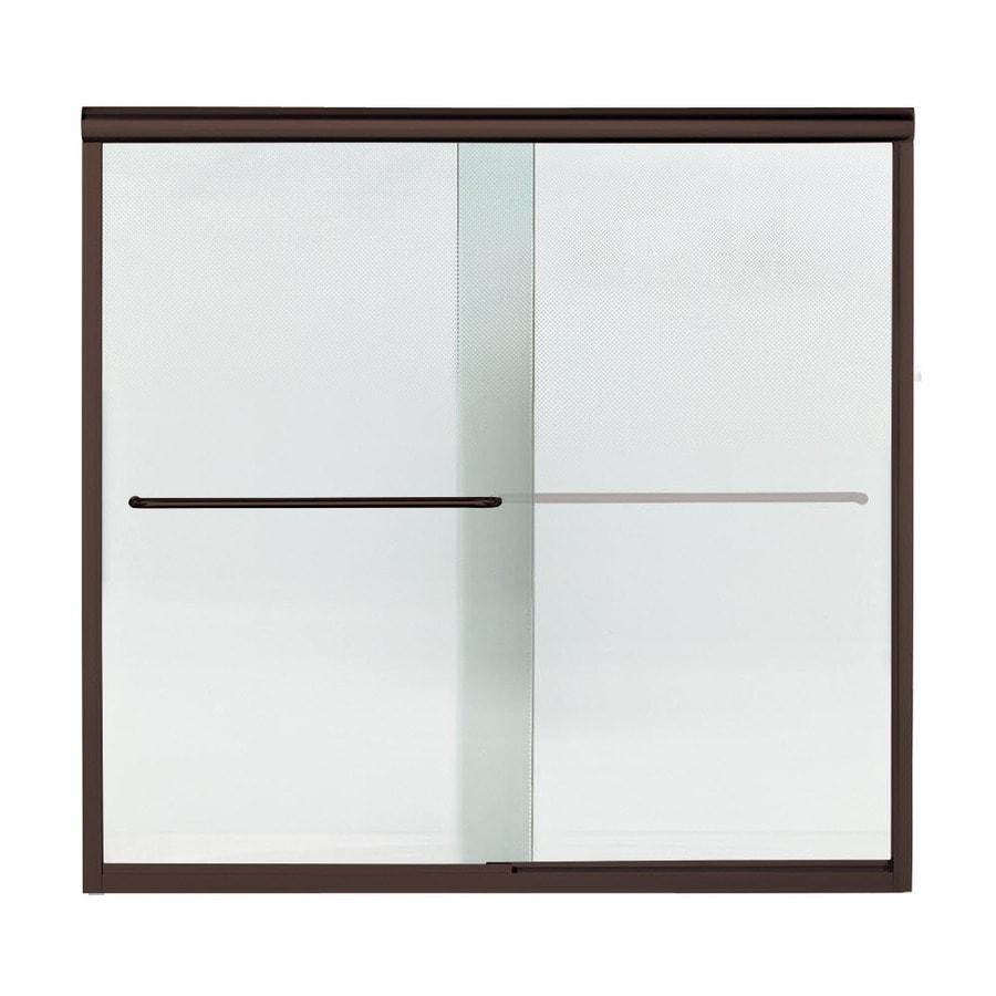 Sterling Finesse 59.25-in W x 55.75-in H Deep Bronze Bathtub Door