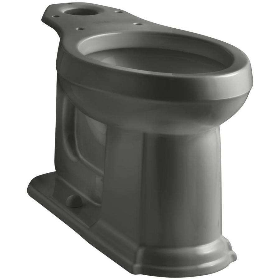 KOHLER Devonshire Standard Height Thunder Grey 12 Rough-In Pressure Assist Elongated Toilet Bowl