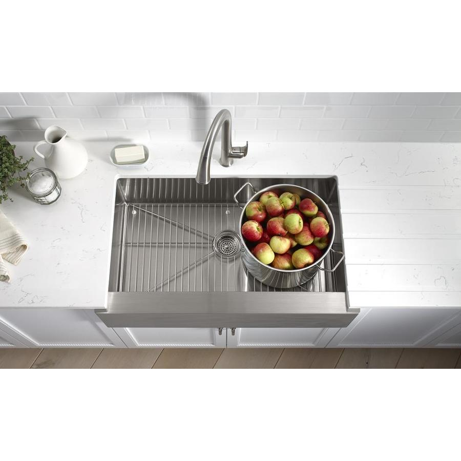 Kohler Undermount Kitchen Sinks Lowes: Shop KOHLER Strive 21.25-in X 35.5-in Stainless Steel