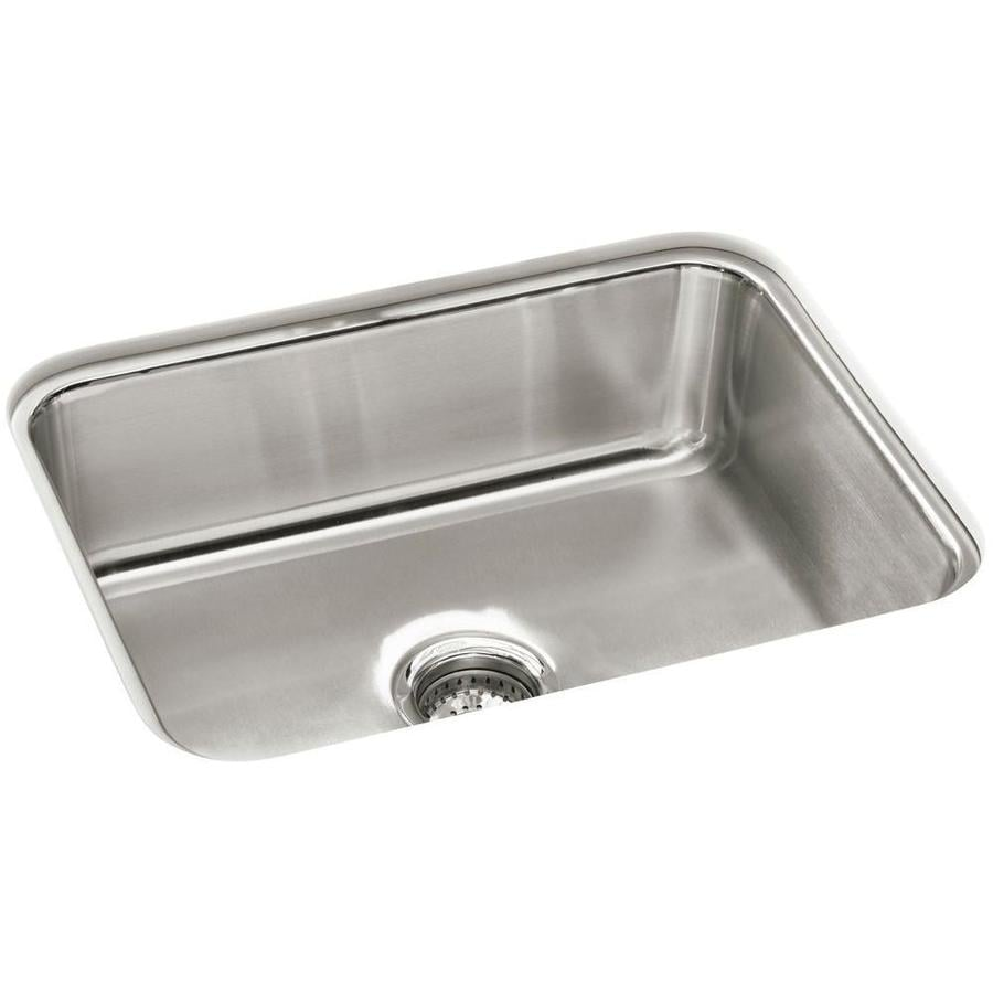 Sterling Mcallister 17.6875-in x 23.375-in Luster Single-Basin Stainless Steel Undermount Residential Kitchen Sink