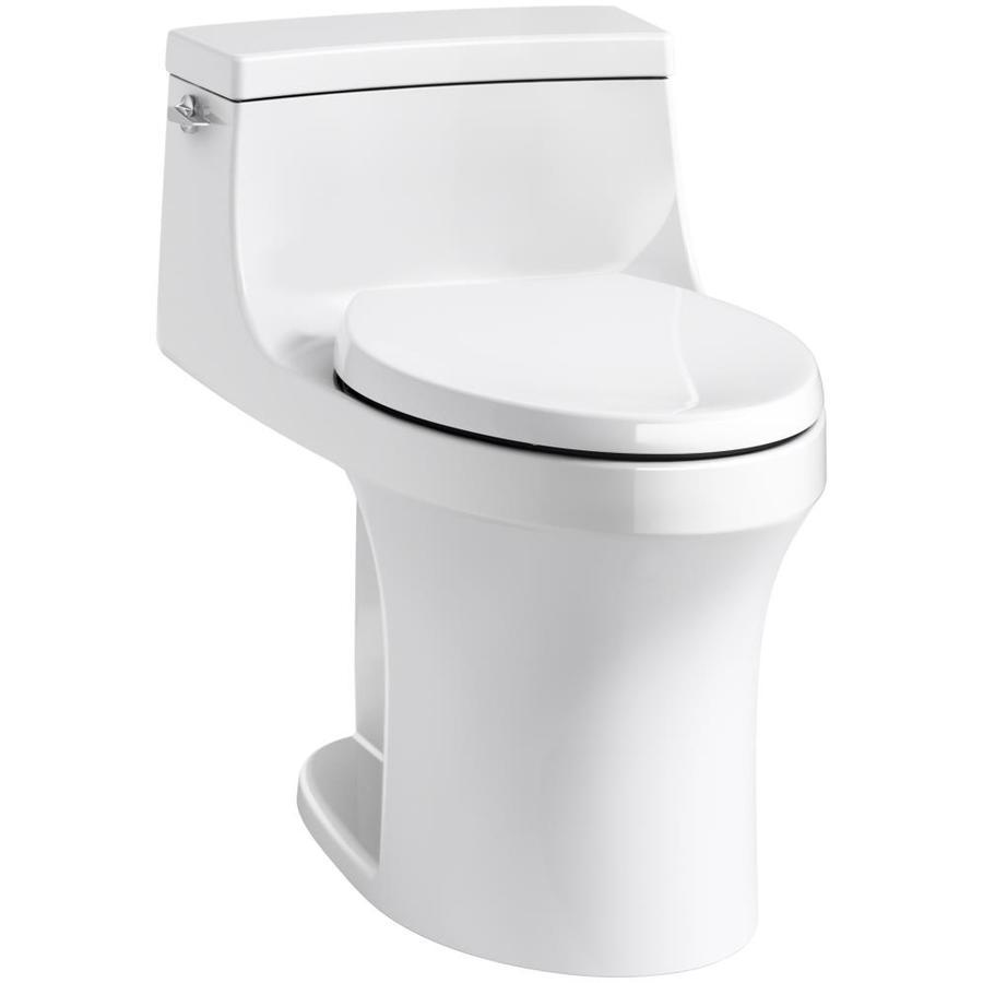 KOHLER San Souci White 1.28-GPF (4.85-LPF) 12 Rough-In WaterSense Elongated 1-Piece Standard Height Toilet