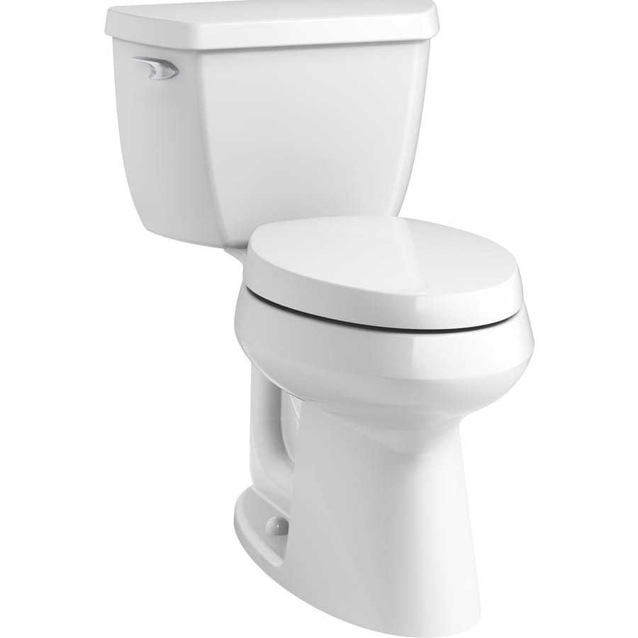 KOHLER Purefresh White 1.28-GPF (4.85-LPF) 12 Rough-In WaterSense Elongated 2-Piece Chair Height Toilet