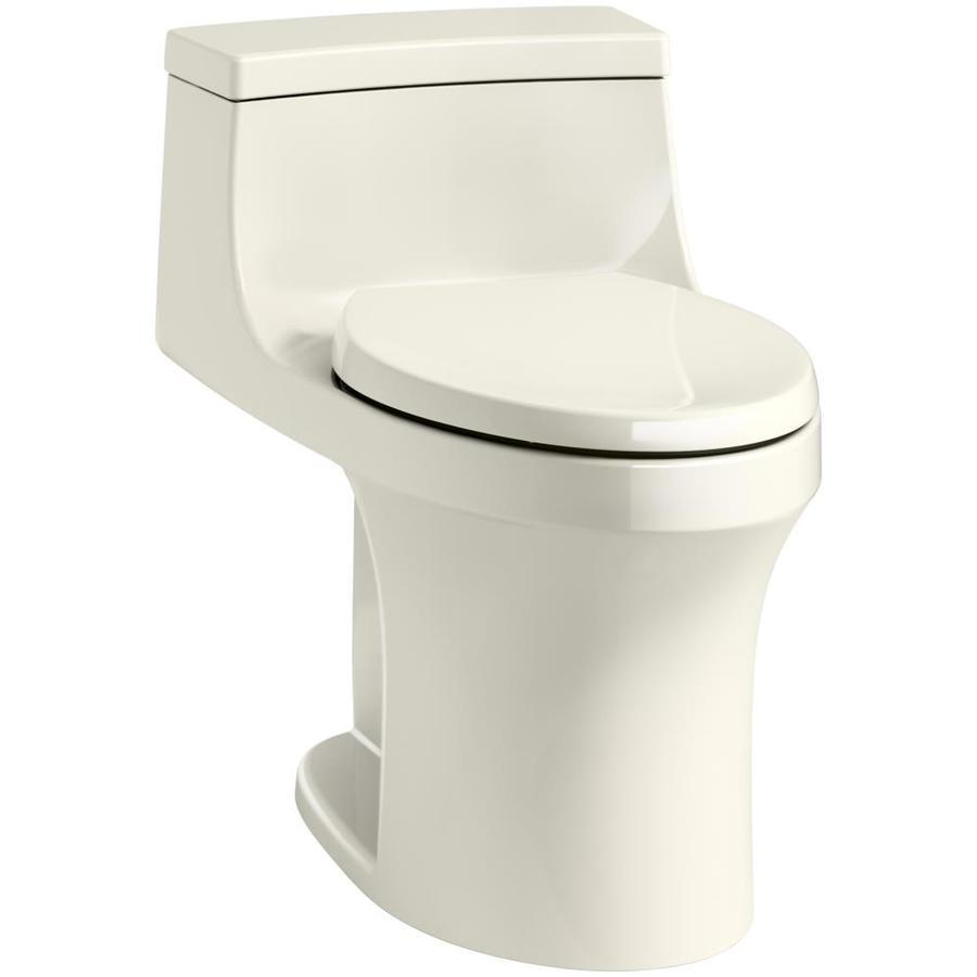 KOHLER San Souci Biscuit 1.28-GPF (4.85-LPF) 12 Rough-In WaterSense Elongated 1-Piece Standard Height Toilet