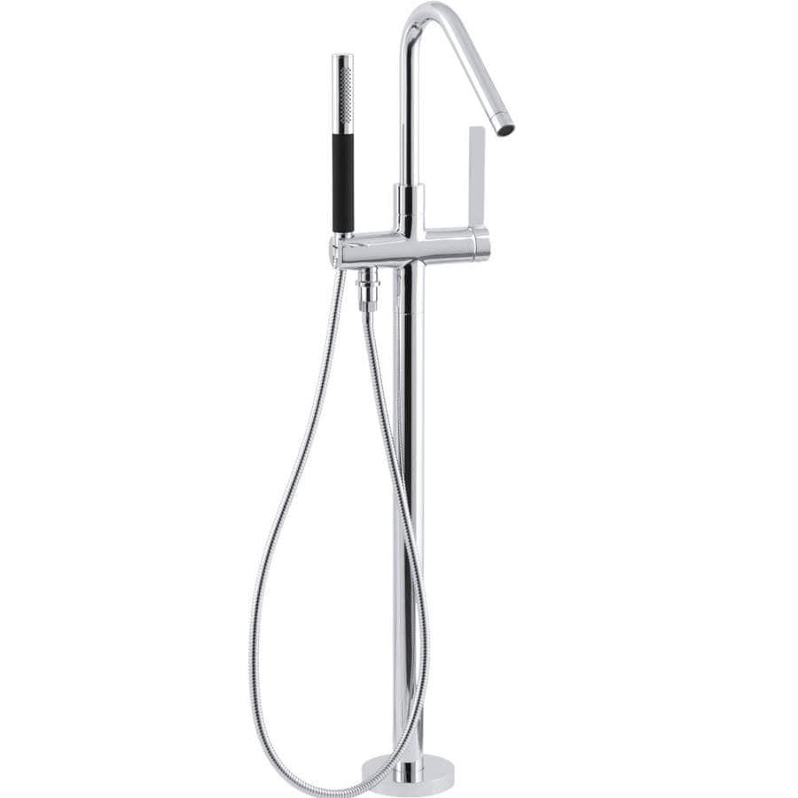 KOHLER Stillness Polished Chrome 1-Handle Fixed Deck Mount Bathtub Faucet
