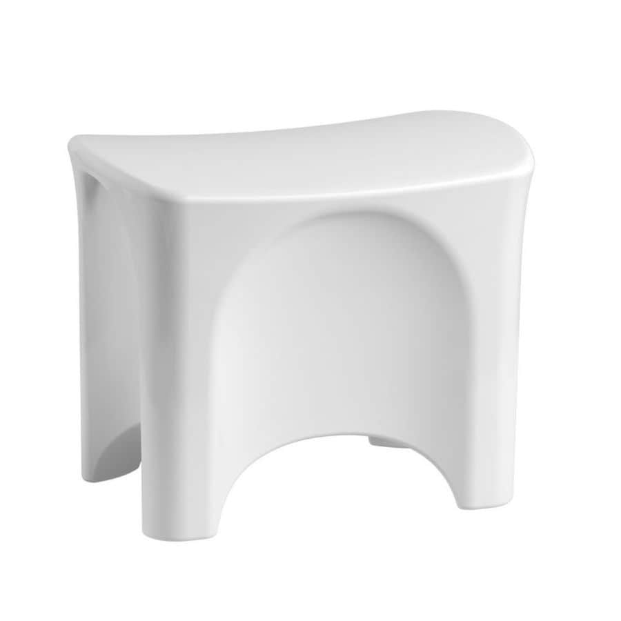 Shop Sterling White Composite Freestanding Shower Seat At
