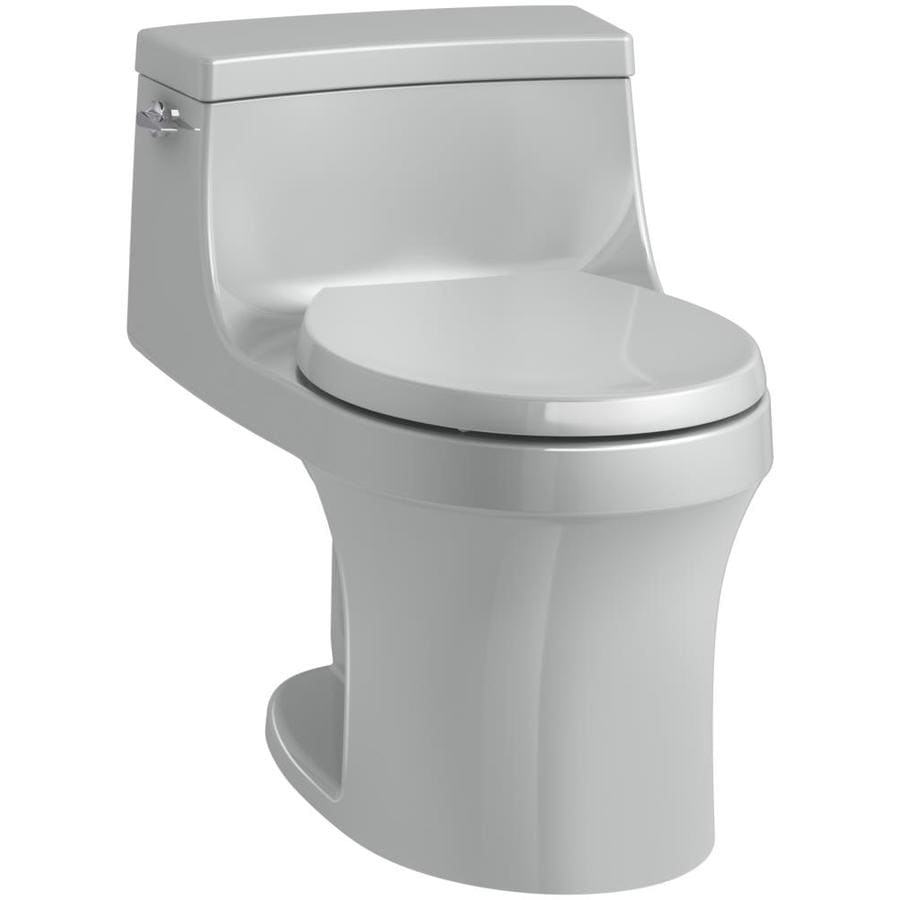 KOHLER San Souci Ice Gray 1.28-GPF (4.85-LPF) 12 Rough-In WaterSense Round 1-Piece Standard Height Toilet
