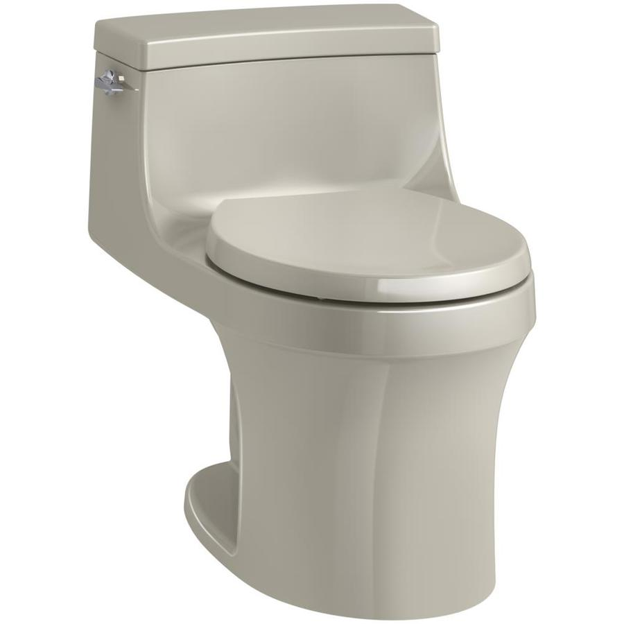 KOHLER San Souci Sandbar 1.28-GPF (4.85-LPF) 12 Rough-In WaterSense Round 1-Piece Standard Height Toilet