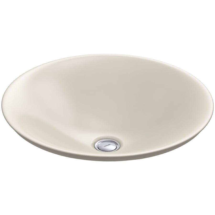 KOHLER Carillon Almond Vessel Rectangular Bathroom Sink
