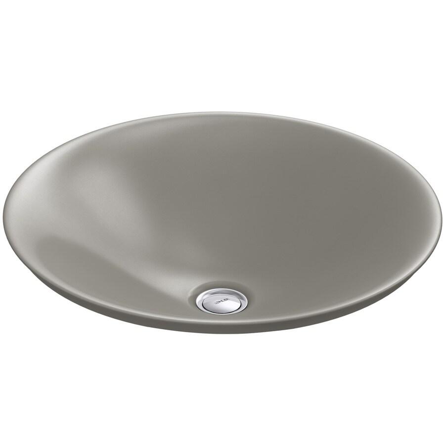 Shop kohler carillon cashmere vessel rectangular bathroom sink at - Vessel sinks at lowes ...