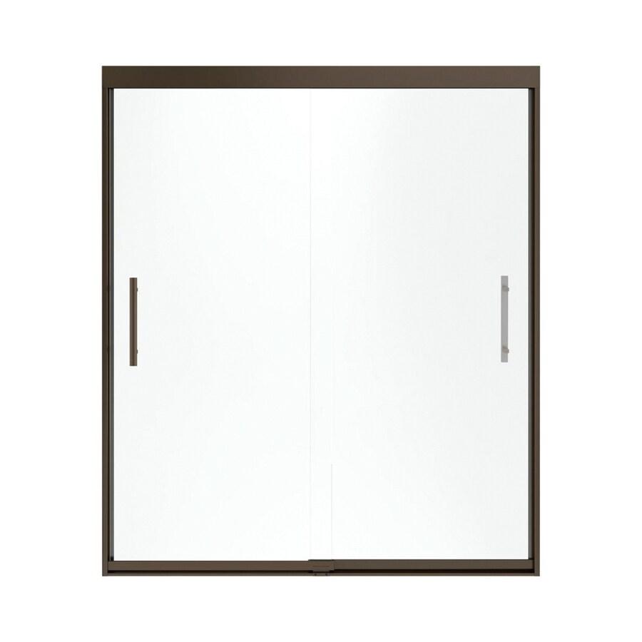 Sterling Finesse 56.625-in to 59.625-in W x 70.0625-in H Deep Bronze Sliding Shower Door