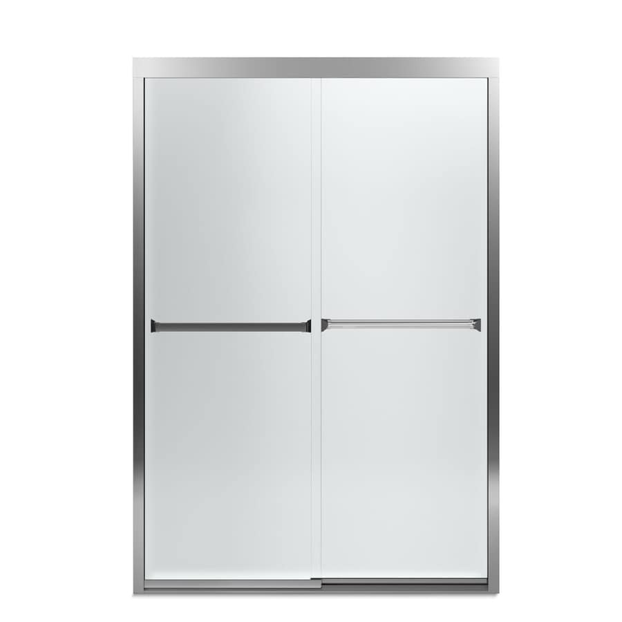 Sterling Meritor 42.62-in to 47.62-in W x 69.68-in H Silver Sliding Shower Door