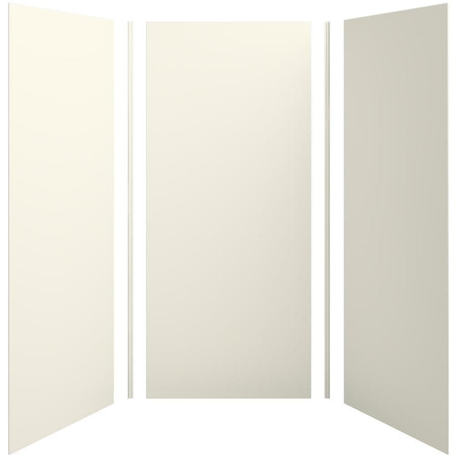 KOHLER Choreograph Biscuit Shower Wall Surround Side and Back Panels (Common: 42-in x 42-in; Actual: 96-in x 42-in x 42-in)