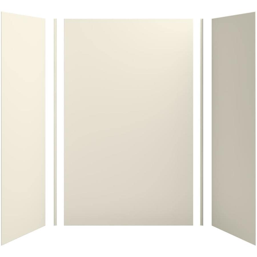 KOHLER Choreograph Almond Shower Wall Surround Side and Back Panels (Common: 60-in x 32-in; Actual: 96-in x 60-in x 32-in)