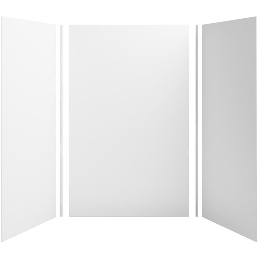 KOHLER Choreograph White Shower Wall Surround Side and Back Panels (Common: 60-in x 42-in; Actual: 96-in x 60-in x 42-in)