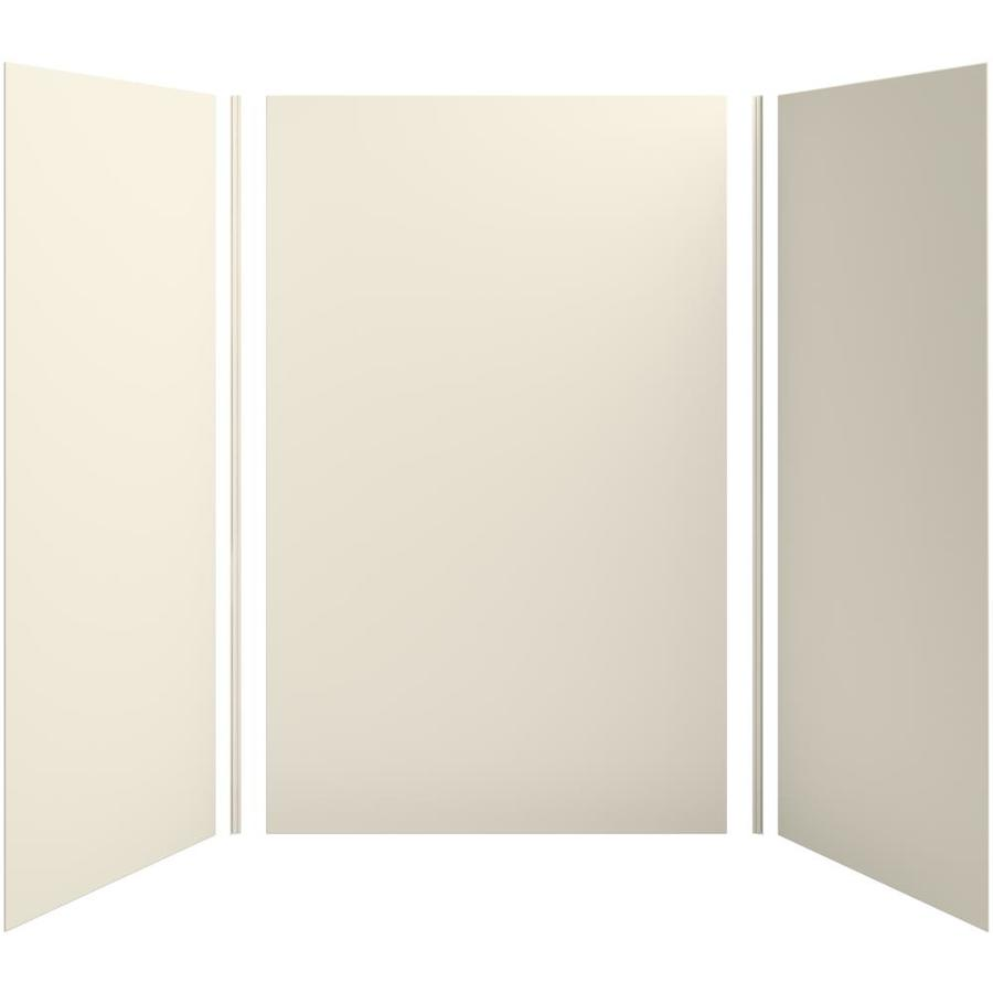 KOHLER Choreograph Almond Shower Wall Surround Side and Back Panels (Common: 60-in x 42-in; Actual: 96-in x 60-in x 42-in)