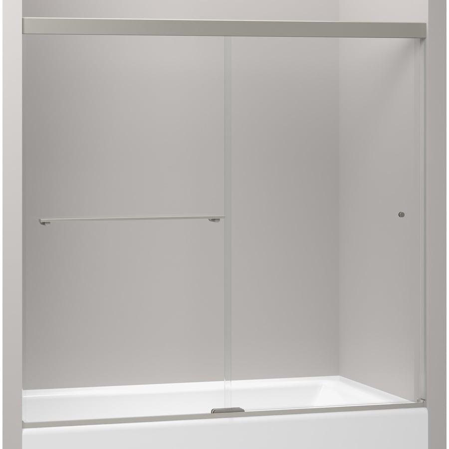 KOHLER Revel 59.625-in W x 55.5-in H Frameless Bathtub Door