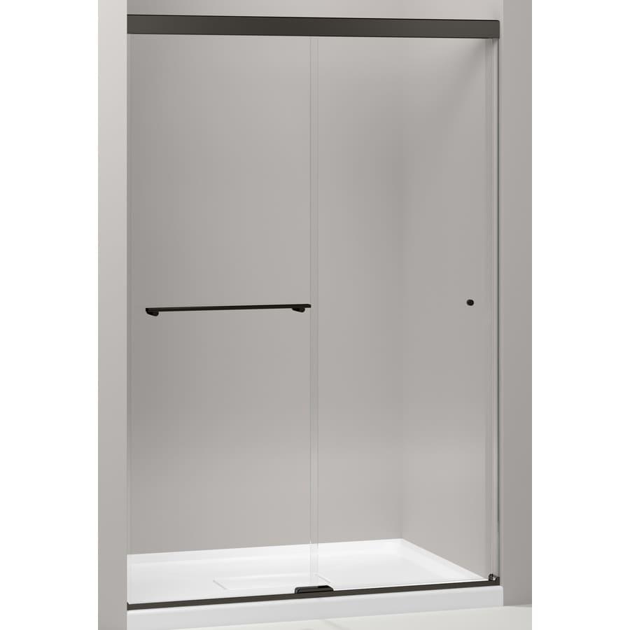 KOHLER Revel 44.625-in to 47.625-in W x 70-in H Dark Bronze Sliding Shower Door