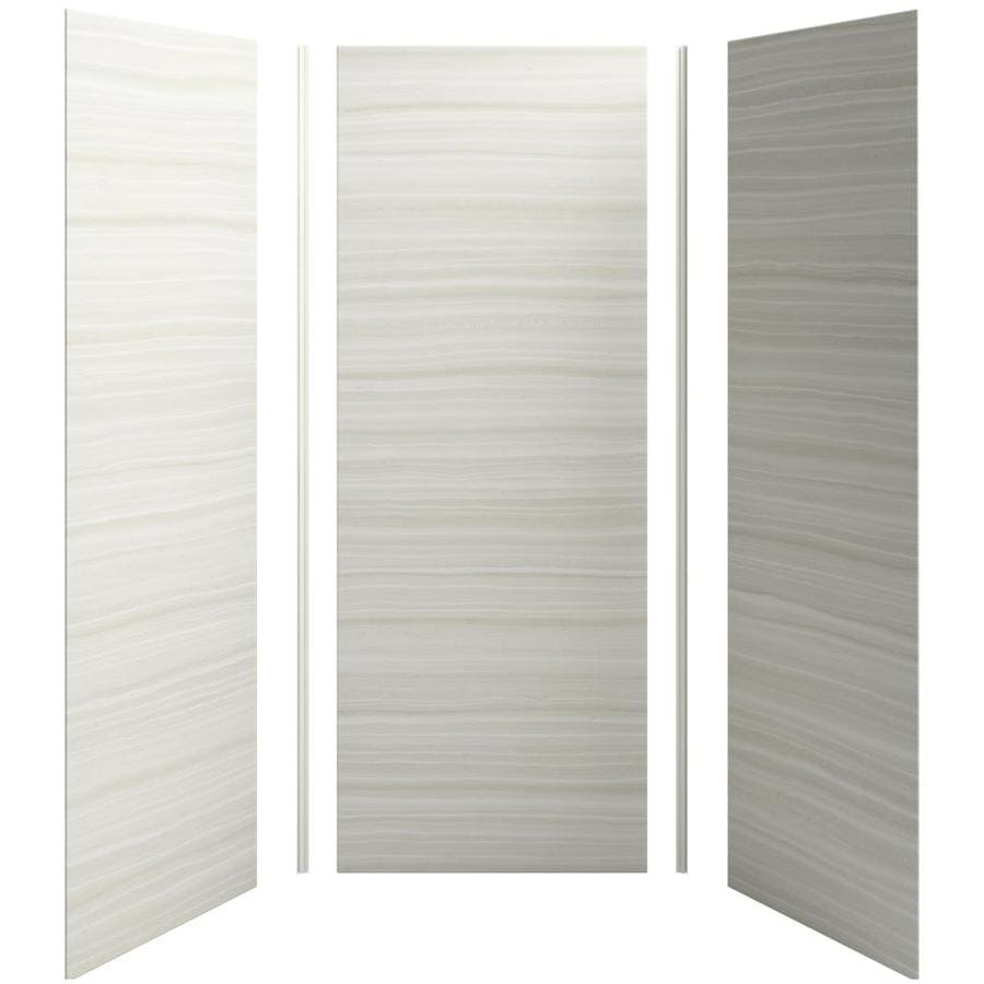 KOHLER Choreograph Veincut Dune Shower Wall Surround Side and Back Panels (Common: 36-in x 36-in; Actual: 96-in x 36-in x 36-in)