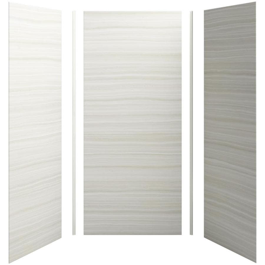 KOHLER Choreograph Veincut Dune Shower Wall Surround Side and Back Panels (Common: 42-in x 36-in; Actual: 96-in x 42-in x 36-in)