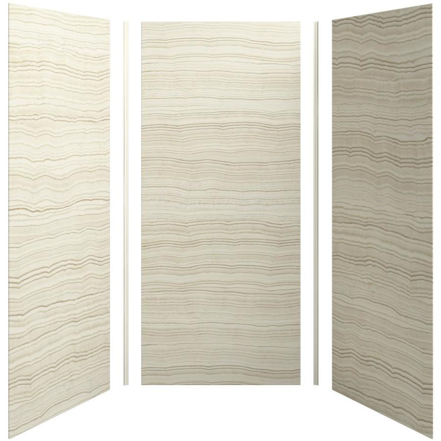 KOHLER Choreograph Veincut Biscuit Shower Wall Surround Side and Back Panels (Common: 42-in x 36-in; Actual: 96-in x 42-in x 36-in)