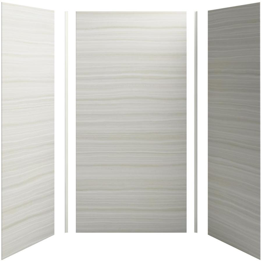 KOHLER Choreograph Sandbar Shower Wall Surround Side and Back Panels (Common: 48-in x 36-in; Actual: 96-in x 48-in x 36-in)