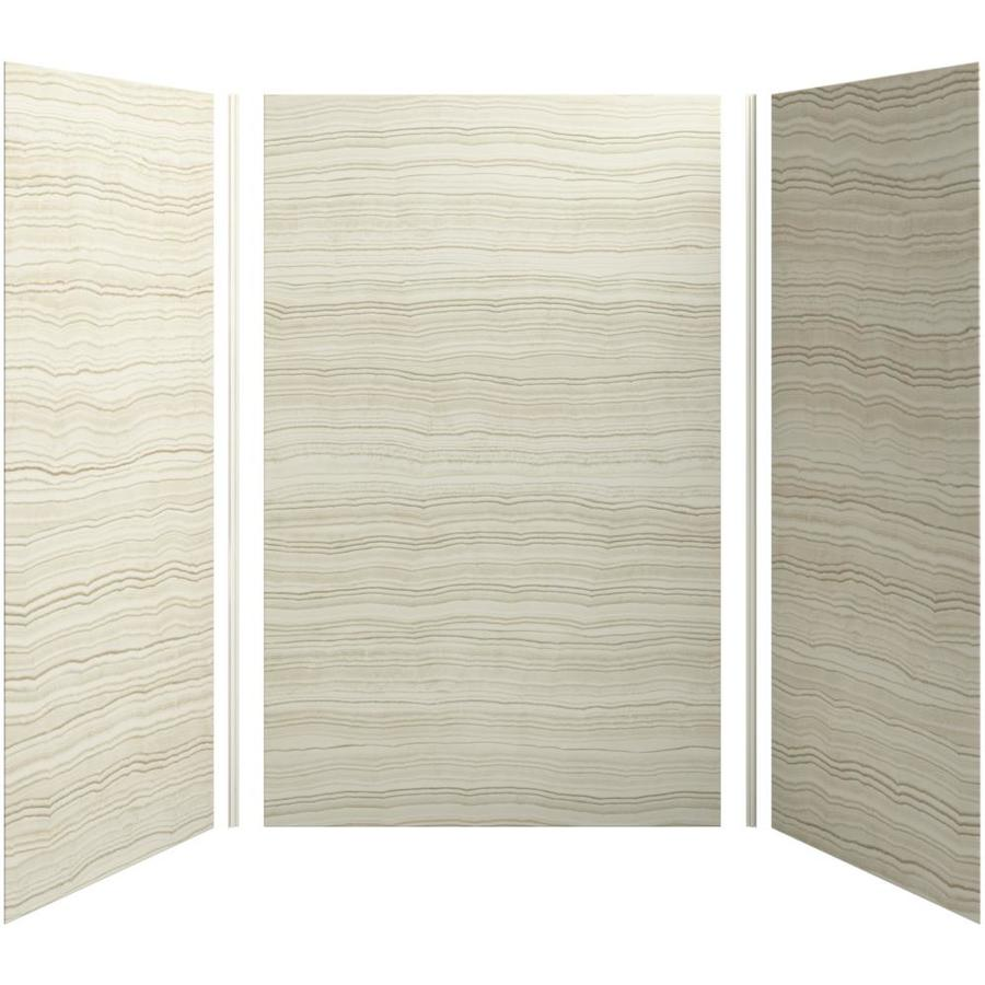KOHLER Choreograph Veincut Biscuit Shower Wall Surround Side and Back Panels (Common: 60-in x 42-in; Actual: 96-in x 60-in x 40-in)