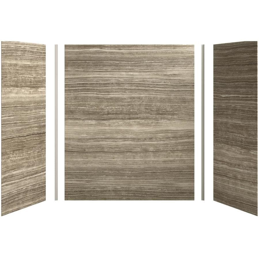 Shop KOHLER Choreograph Veincut Dune Shower Wall Surround Side and Back Panels (Common: 60-in x ...
