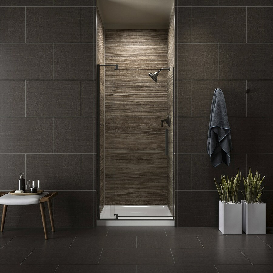 KOHLER Revel 31.125-in to 36-in Frameless Pivot Shower Door