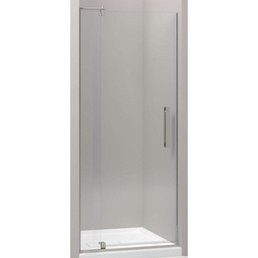 KOHLER Revel 27.312-in to 31.125-in Frameless Pivot Shower Door