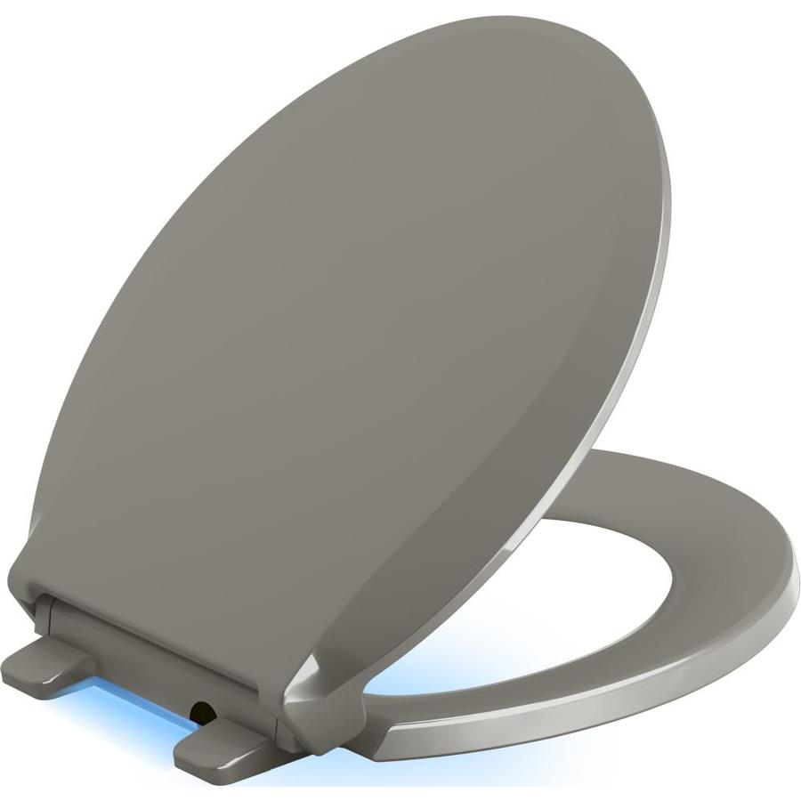 KOHLER Cachet Nightlight Cashmere Plastic Round Slow-Close Toilet Seat