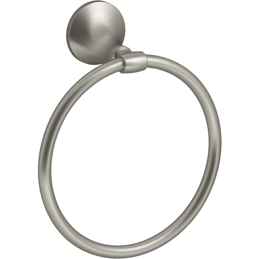 KOHLER Elliston Vibrant Brushed Nickel Wall Mount Towel Ring